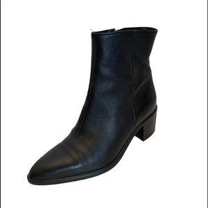 Lavorazione Artigianale 100% leather black ankle Chelsea boots size 39
